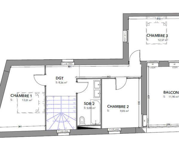 F4 Rez de jardin Dornach - Etage