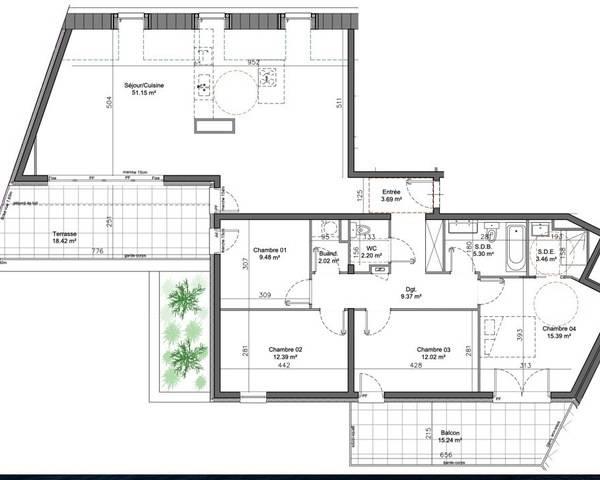 F5 neuf en attique à Colmar  - Image 09-07-2020 à 10.49