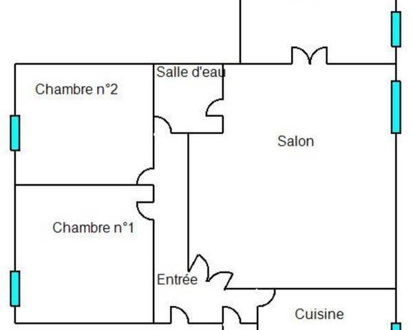 Appartement 4 pièces de 77 m2  - Plan appartement